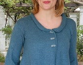 Cropped Swing Jacket to Knit PDF Pattern Instant Download
