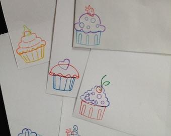 Cute Cupcakes letter/writing set (0 calories)