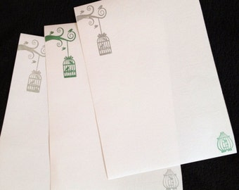 Caged Birds Letter/ Writing Set
