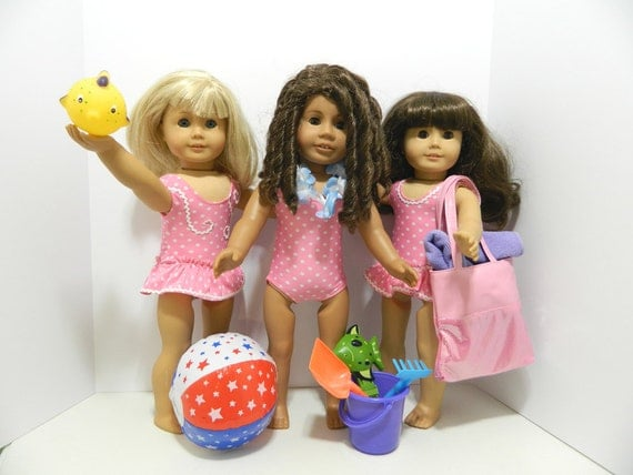 Beach Toys For Girls : Swimsuit and beach toys for american girl bitty baby