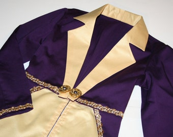 Willy Wonka Circus Ringmaster Tailcoat Jacket Costume - Childs and Adult Sizes- Birthday, Halloween, Carnival, Pageant, Dance