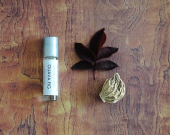 Guava Fig Perfume Oil, Roll On Perfume Fruity Sweet Fragrance Vegan, Autumn Fall