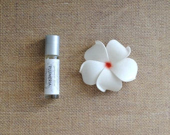 Plumeria Perfume Oil, Roll On Perfume Tropical Fragrance Alcohol Free