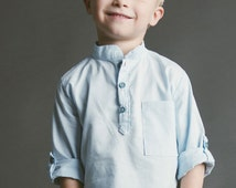 Prepster Woven Pullover Shirt PDF Sewing Pattern Boy Toddler 18m 2t 3t 4t 5 6 7 8