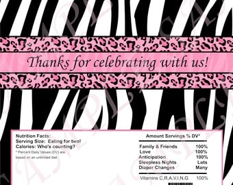 Custom Diva Zebra Cheetah Candy Wrapper