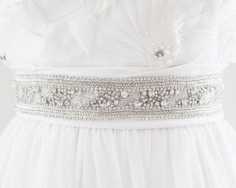 CANDICE - Rhinestone Beaded Bridal Wedding Belt
