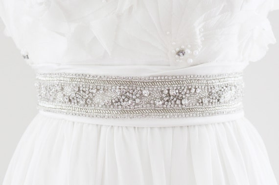 CANDICE - Rhinestone Beaded Bridal Wedding Belt