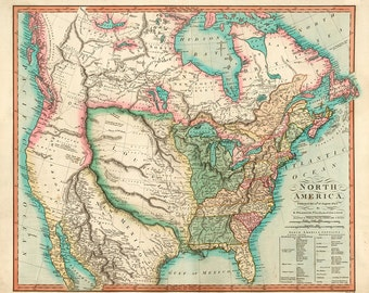 1824 Map of North America