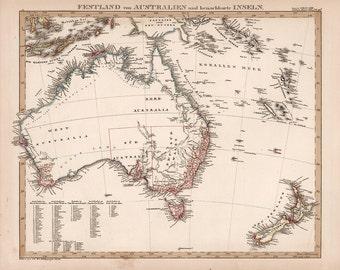 1850 Map of Australia