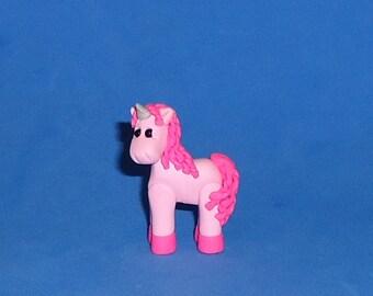 Polymer Clay Pink Unicorn