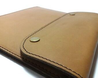 Bag /case for IPad MINI / bag for iPad mini Sleeve for iPad mini / cover holder genuine camel leather free INITIALS