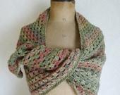 Crochet triangle shawl crochet scarf stole
