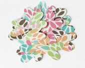 Heart Die Cuts, Colorful, Flower Petals, Floral Confetti, Party Supplies