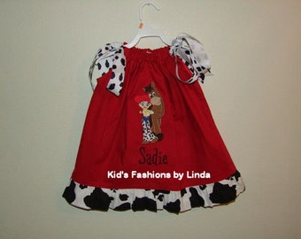 Personalized Red Dress with Jessie/Bullseye