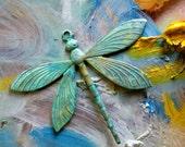 Patinaed Dragonfly Bead (1 pc)