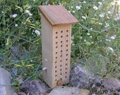BEE HOUSE, Rustic Wood with Shingle Roof. Hand Made, Ready to Ship