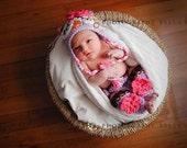 Newborn Baby Girl Sleepy Crochet OWL PURPLE n BROWN Diaper Cover, Leg Warmers -n- Beanie Hat Set -- Adorable Photo Prop