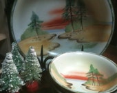 SALE Hand Painted Japan Berry Bowl Set Nippon