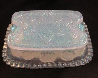 Sparkly Iridescent Resin Treasure Box