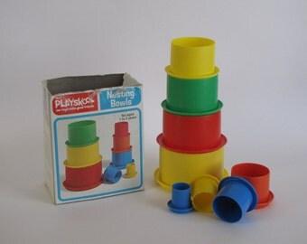 Vintage Children's Toy -1976 Playskool Nesting Bowls