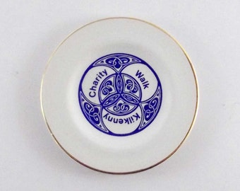 Very Rare Arklow Pottery commemorative small plate for kilkenny charity walk