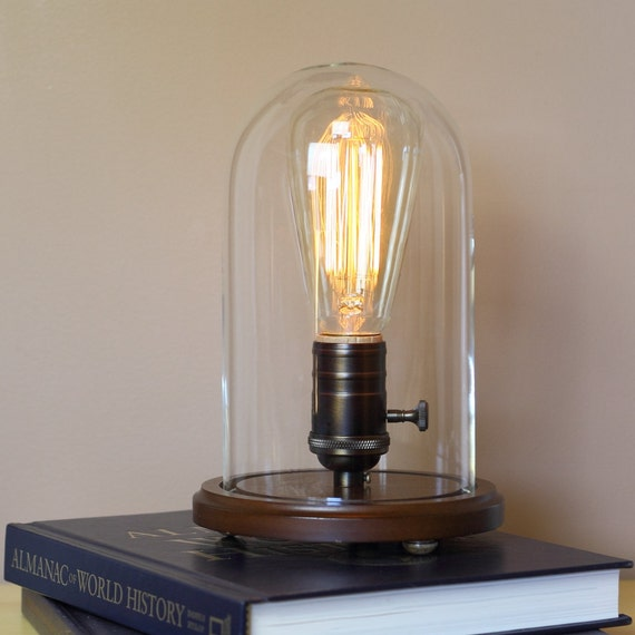 Industrial Edison Desk Lamp W Edison Light Bulb By