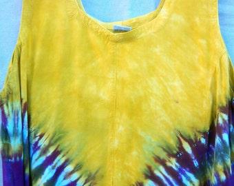 Plus size Dramatic Deep Vee Rayon Dress