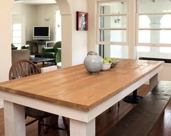 Beautiful Reclaimed Wood Dining Table. made in downtown Los Angeles.