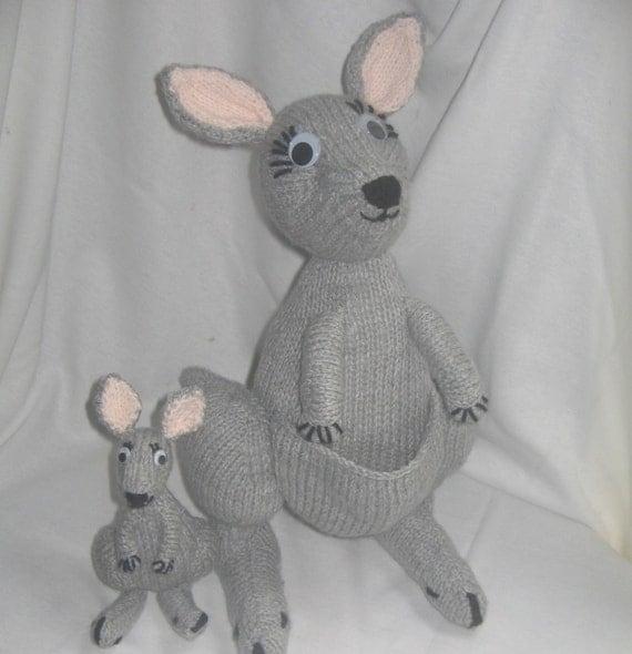 Kangaroo Knitting Pattern : Toy Kangaroo & Joey: KNITTING PATTERN pdf file by automatic