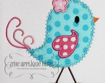 Spring Birdie Birdie  Digital Embroidery Design Machine Applique