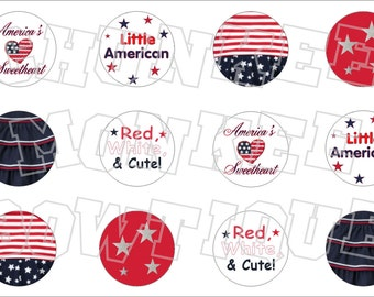 Made to Match Gymboree M2MG 4th of July bottlecap image sheet