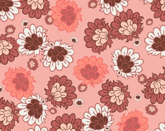 SALE - Botanica - Salmon Deco Flowers from Art Gallery Fabrics