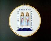 The Shining Cross Stitch Pattern - Twins
