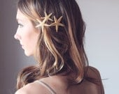 SANDY STARFISH PINS - Destination Wedding Accessories, Starfish Hair Accessories, Beach Hair Accessories, Mermaid Hair Accessories