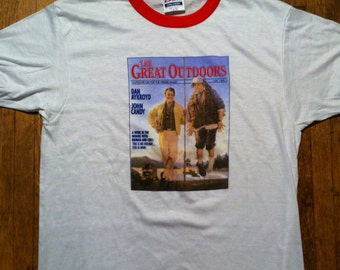 Vintage 1988 The Great Outdoors movie ringer t-shirt, soft and thin, M-L