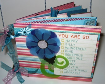 Chipboard Album   You are so...   in Pink and Blue 5x6 inches