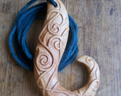 Celtic hook pendant carved in Alder
