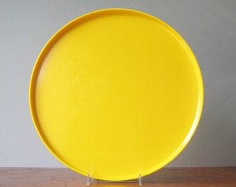 Vintage Heller Vignelli Yellow Mod Plastic Tray / Platter