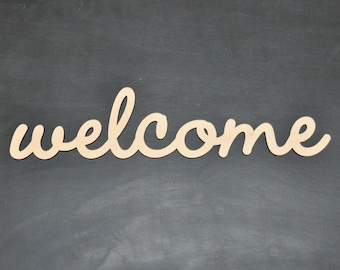 Welcome Wooden Home Decoration Sign