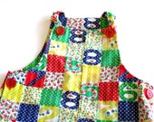 vintage girls jon jon patchwork numbers 2T