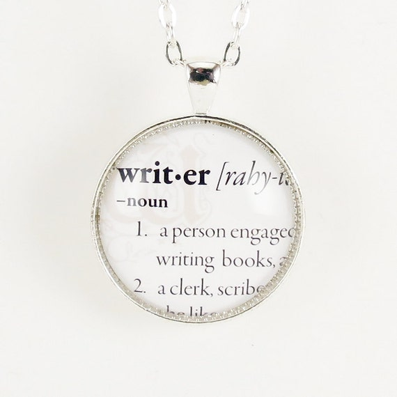 Personalized Necklace, Custom Dictionary Word Necklace, Dictionary Jewelry .