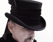 Raven man's top hat steampunk Victorian - Blackpin