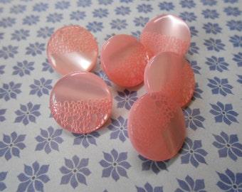 Buttons Shank Pink 6 pcs