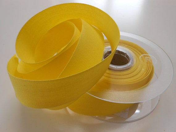 """Canvas Tape Yellow  Cotton 1 1/4""""width 5yds"""