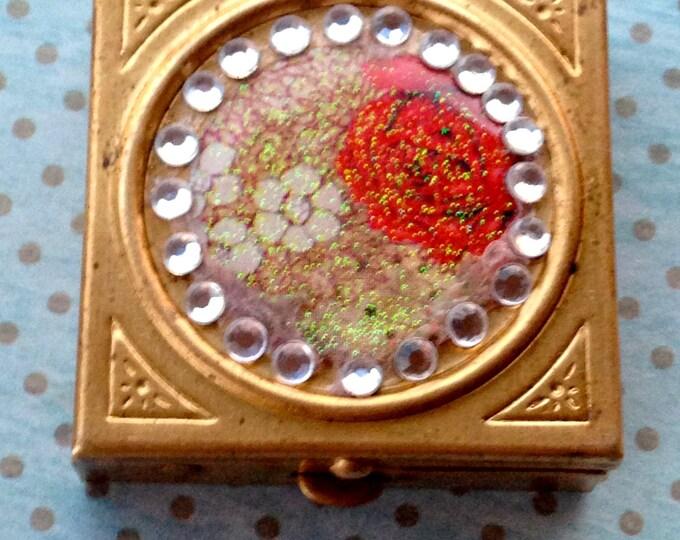 Accessories Case Vintage Pill Box Brass