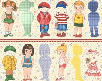 Today's Paper Dolls by Newcastle Fabrics 596-24-One panel of large dolls