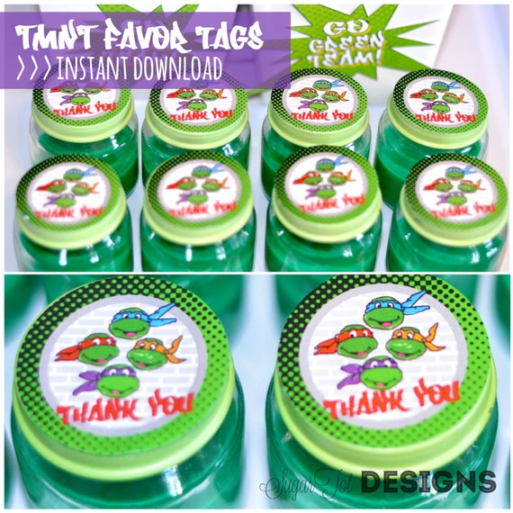 Favors Tags And Stickers Favor Tags Tmnt Stickers