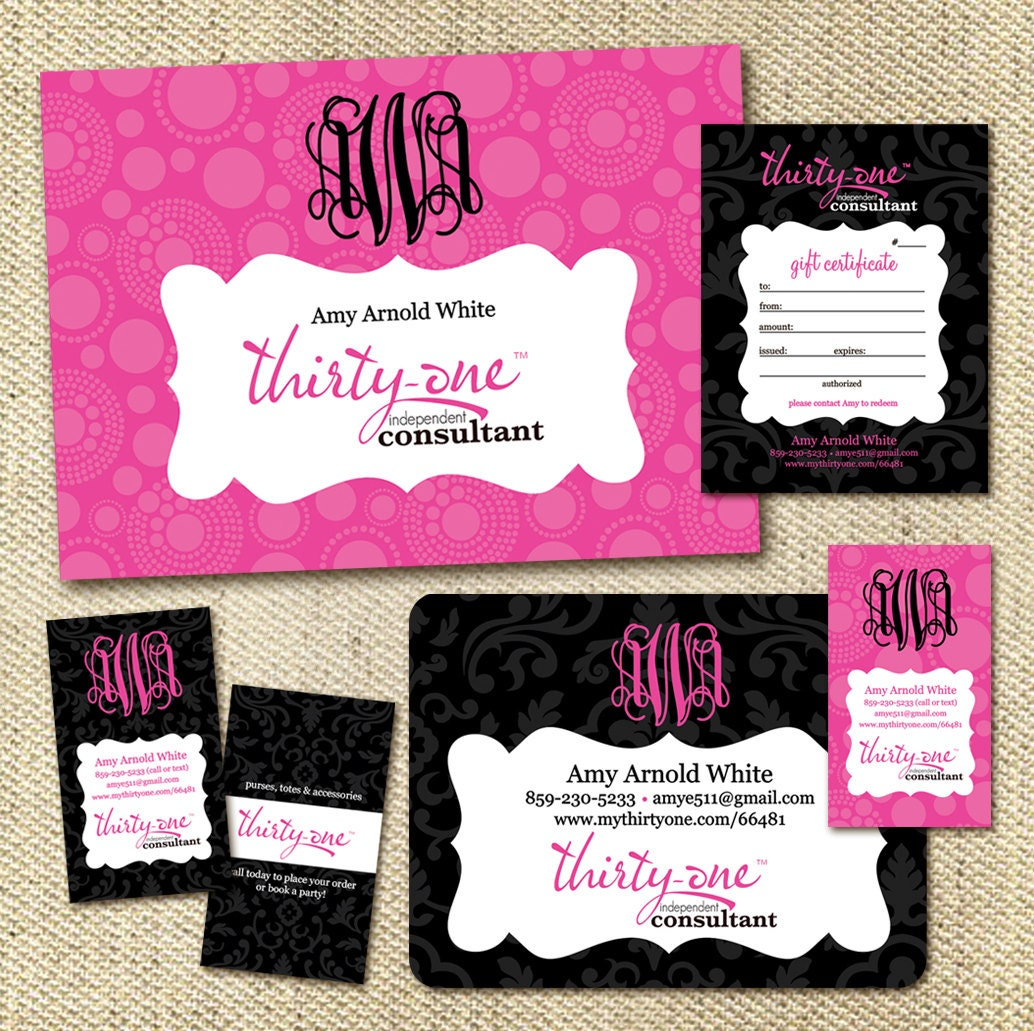 Thirty one consultant digital promotional package by greyink for Thirty one business cards vistaprint