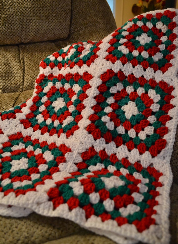 Christmas Afghan Knitting Patterns : Crochet Afghan Christmas