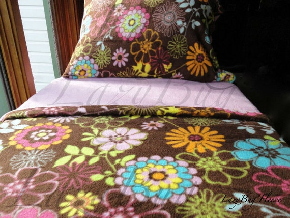 Wild Flower Crib Set for Girls Fleece Bedding For Crib & Toddler Beds